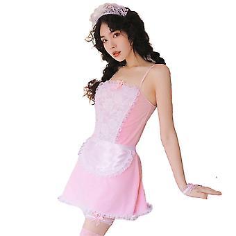 Regenboghorn Sexy Maid Lingerie Nightdress Lace Sling Pajamas FL7928