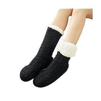 Sort fod warmerfeet varmere til womenslipper fluffy sokker x2752