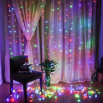 Window curtain lights 300 leds with remote to set 8 lighting modes & timer dt4473