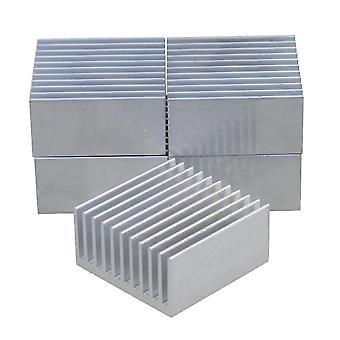 Для 5x охлаждения ребер Алюминиевый радиатор Радиатор Радиатор ТеплоДиффузный серебро 40x40x20 WS4515