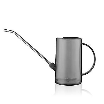 Grey watering cans for indoor plants with long spout small watering pot x7518