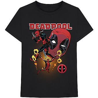Marvel Comics - Deadpool Collage 2 Heren Groot T-Shirt - Zwart