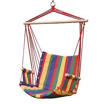 Columpio de la silla colgante con travesaño – Cuerdas rojas – Hasta 120 kg