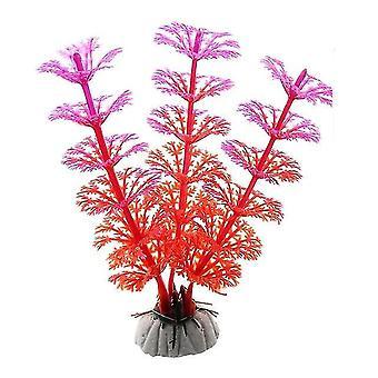 جديد 20 حوض السمك الأحمر محاكاة الزخرفية الاصطناعية النرجس النباتية البيئية sm2029