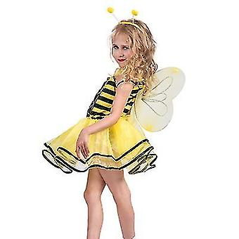 Carnival Halloween Cosplay Costume Party Stage Costume Girl Cute Little Bee Suit(S)