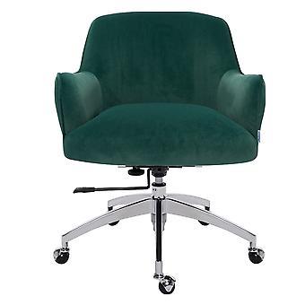 Samt Drehbar bürostuhl Armlehne Schreibtischstuhl, grün