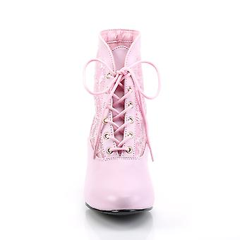 Funtasma Apparel & Accessories > Costumes & Accessories > Costume Boots > Womens DAME-05 B. Pink Pu-Lace