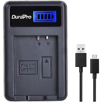 LP-E10 Rapid LCD Battery Charger for Canon EOS 1100D, 1200D, EOS Rebel T3, EOS Rebel T5, Kiss X50,