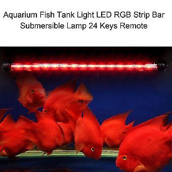Aquarium Fish Tank Light Led Rgb Strip Bar Submersible Lamp 24 Keys Remote