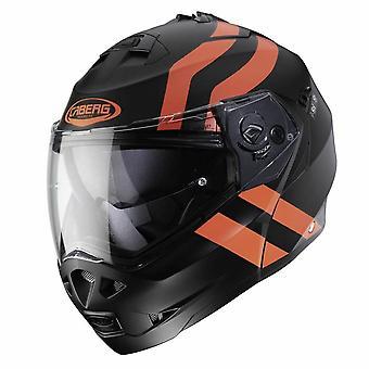 Caberg Duke II Super Legend Matt Full Face Motorcykel Hjälm Svart Orange