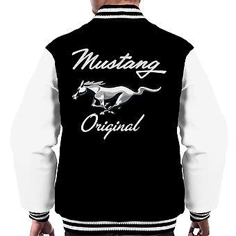 Ford Mustang Original Chrom Pferd Logo Herren Varsity Jacke
