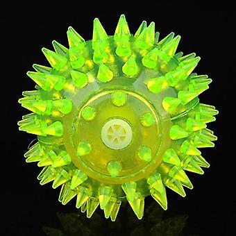 Dog Toy Balls for Pets Color Pet Flashing Ball Glowing Elastic Ball Dog Toy Ball Rubber Acoustic