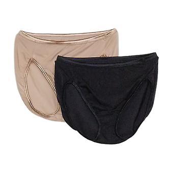 Vanity Fair Women's Panties Reg 2-pack Illumination Hi-Cut Black 704124