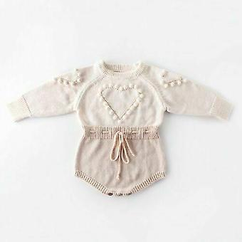 Kid Baby Knitted Clothes Romper Jumpsuit.