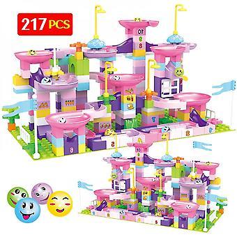 217pcs Marble Balls Track Building City Funnel Slide Toys pour les enfants