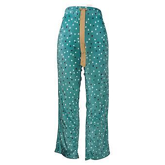 Maidenform Women's Novelty Printed Fleece Pajama Pants Green 631063