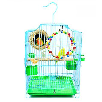 Tiger Skin Parrot Cage Large Stainless Plated Cage Myna Wren Xuanfeng Peony Iron Parrot Cage