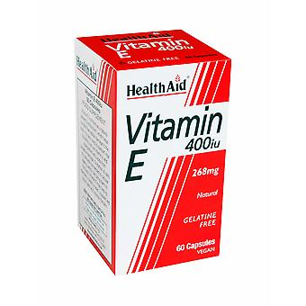 Health Aid Vitamin E 400iu Natural, 60 Vegetable Capsules