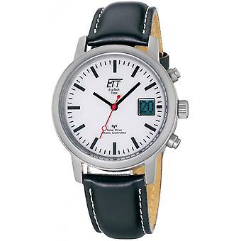ONE (Eco Tech Time) Schwarz Echtleder EGS-11185-11L Herrenuhr