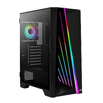 Desktop-Computer-Server-Gehäuse Mirage argb atx Mid Tower gehärtetes Glas PC Gaming Case