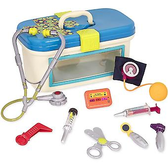 Pretend professions role playing dr. Doctor toy – deluxe medical kit for toddlers - pretend play set for kids 10 pieces