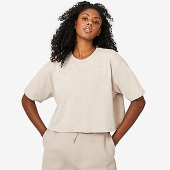 Everlast Womens Cropped T-Shirt Crew Neck Short Sleeves 100% Cotton Tee Top
