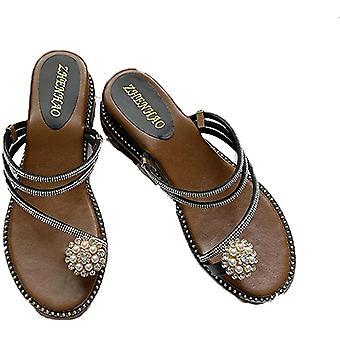 Ladies Daglige Plattform Utendørs Komfortable Sommer Sandaler