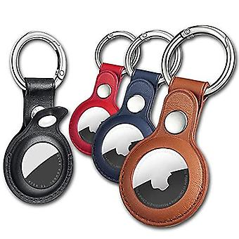 Air Tag Keychain For Apple Airtags Holder , 4 Pack Protective Leather Airtags Case Tracker Cover With Air Tag Holder, Airtag Key Ring Compatible With