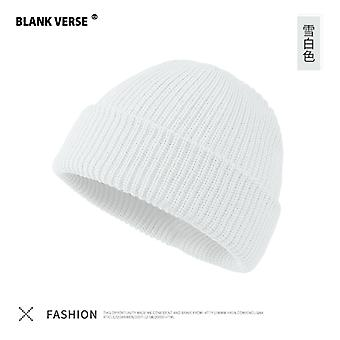 Winter Warm Melon Leather Hat Knitted Hat Men's And Women's Couple Caps