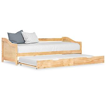 Chunhelife Pull-out Canapé-Lit Cadre Pinewood 90x200 Cm
