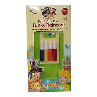חברים קטנים לצייר מעיל גשם פאנקי שלך עבור 3-5 שנתיים +