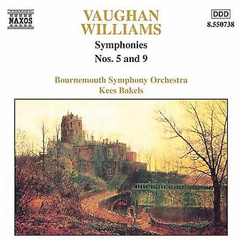 R. Vaughan Williams - Vaughan Williams: Symphonies Nos. 5 and 9 [CD] USA import
