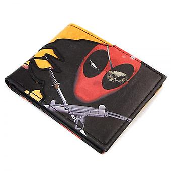 Deadpool Marvel Here Comes Deadpool Pirate Black Wallet