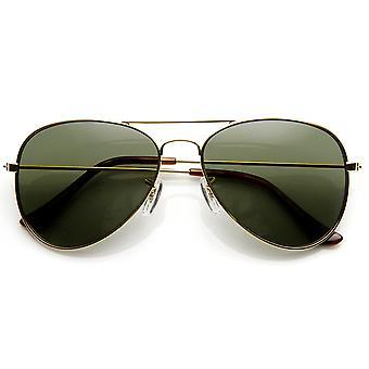 Originale klassiske Metal Standard Aviator solbriller - nikkel forgyldt ramme