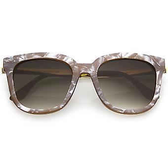القرن النظارات الشمسية الحديثة الرخام طباعة مربع انعقدت جولة عدسة التدرج 53 ملم