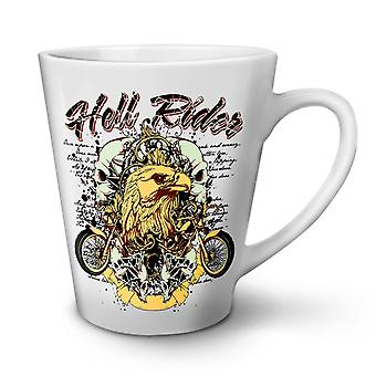 Riding in Hell Eagle Biker NEW White Tea Coffee Ceramic Latte Mug 12 oz | Wellcoda