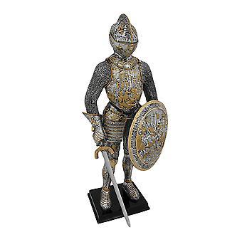 Mittelalterliche französische Ritter In Rüstung Statue Figur Rüstung