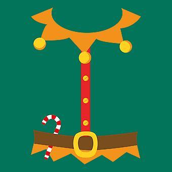 Christmas Shop dam/dam Kortärmad Elf Tshirt