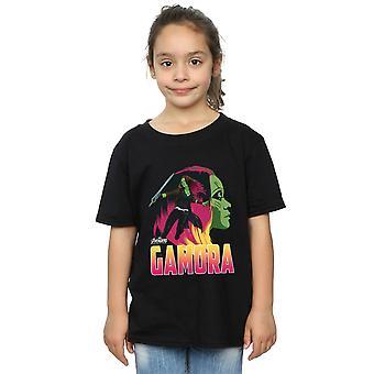 Marvel Avengers Infinity Krieg Gamora Charakter T-Shirt für Mädchen