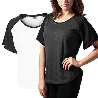 Urban classics ladies - RAGLAN HiLo Butterfly shirt top