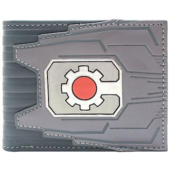 Portafoglio Bi-Fold ID DC Cyborg macchina Cog Logo & Card