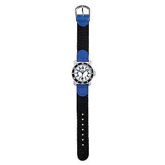 Scout kind horloge leren duiker - blauwe jonge 280377002