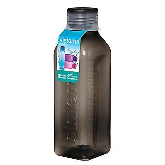 Sistema-Hydrat 725ml quadratische Trinkflasche, schwarz