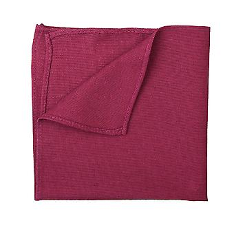 Plum Hopsack Linen Pocket Square