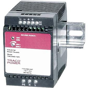 TracoPower TPC 080-124 Rail mounted PSU (DIN) 24 V DC 3.3 A 80 W 1 x
