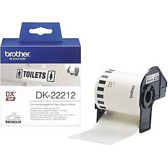 Brother DK-22212 Tarrarulla 62 mm x 15,24 m Film Valkoinen 1 kpl Pysyvä DK22212 Yleistarrat
