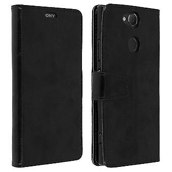 Vintage serien, Vend lommebok tilfelle for Sony Xperia XA2 - svart