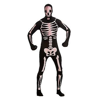 2. bőr csontváz teljes test suit második bőr jelmez felnőtteknek