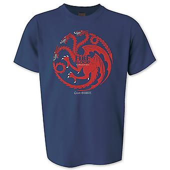 Game of Thrones T-Shirt Fire and Blood Targaryen