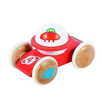 BOIKIDO Saturnus ajoneuvon puinen työntää pitkin Space lelut